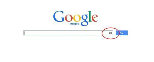 Det är den här symbolen du ska klicka på för att ange en bild och söka efter likadana eller liknande bilder.